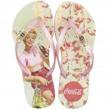 Imagem - Chinelo Coca Cola Flower Girl Feminino cód: CC2864