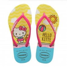 Imagem - Chinelo Infantil Havaianas Slim Hello Kitty Feminino  cód: 41457480001