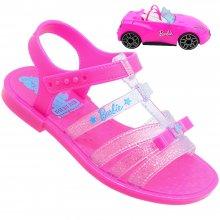 Imagem - Sandália Infantil Barbie Pink Feminina Rosa Com Carro cód: 2216651452