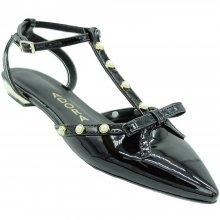 Sapato Adora Verniz Laço Perolas Feminina