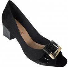 Sapato Peep Toe Bebecê Camurça Suede Feminina