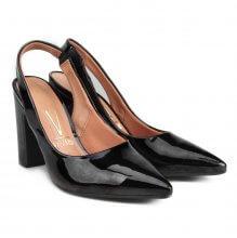 Sapato Vizzano Chanel Verniz Premium Feminino