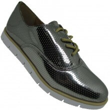 Sapato Zalux Oxford Metalizado Feminino