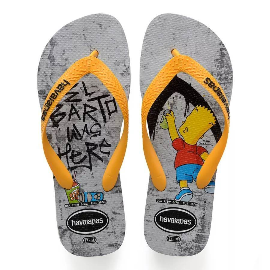 a3b6728af Chinelo Havaianas Simpsons Masculino - Decker Online!