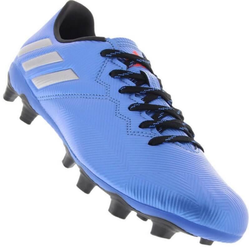 11f92fe29c Chuteira Adidas Messi 16.4 FxG Campo Masculina Azul - Decker!