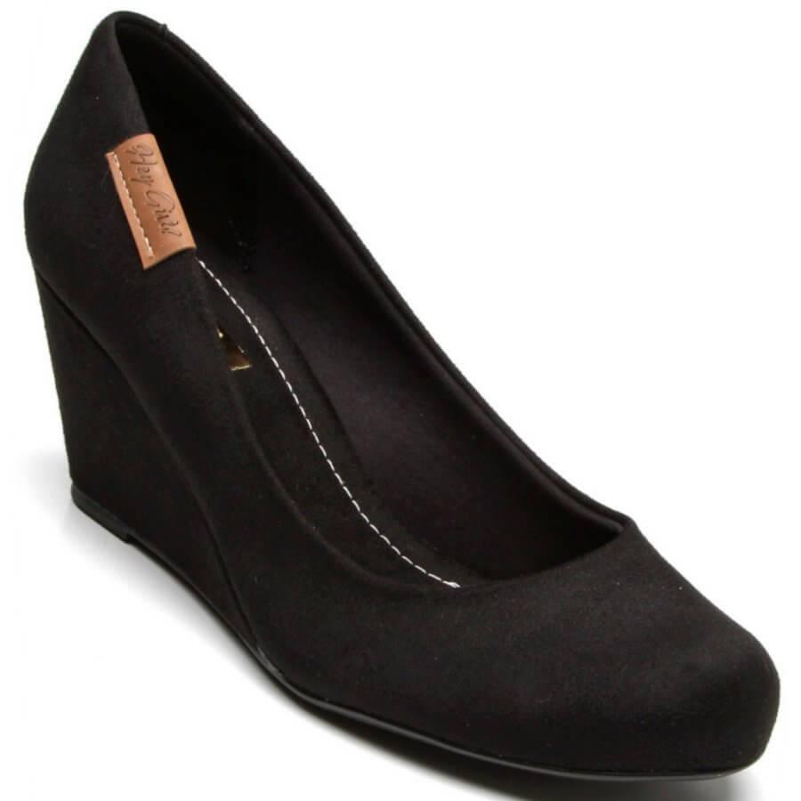 0e718560c Sapato Moleca Camurça Anabela Feminino - Decker Online!