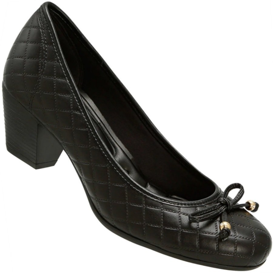 825b3ac000 Sapato Scarpin Azaleia Matelassê Laço Feminino