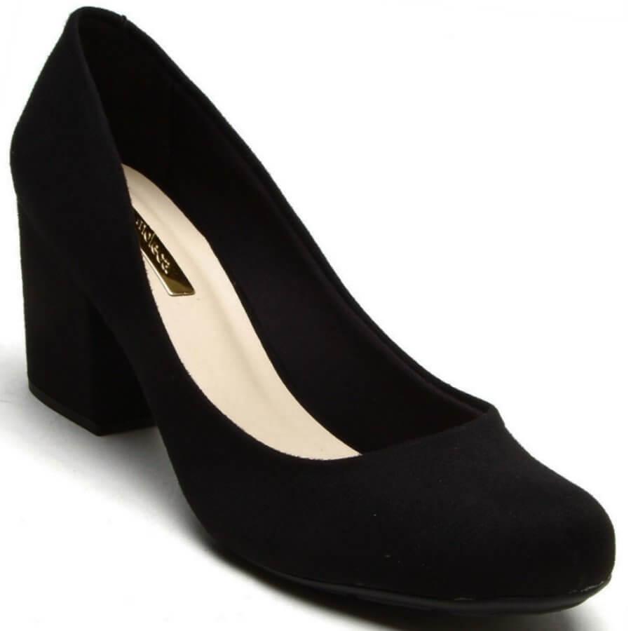 f0c5e3f0d Sapato Scarpin Moleca Nobuck Feminino - Decker Online!
