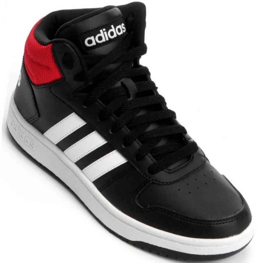c71b139be Tênis Adidas VS Hoops Mid Cano Alto Casual Masculino