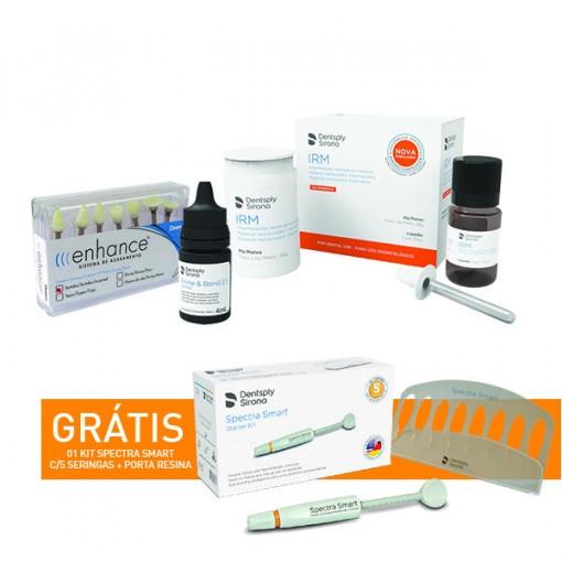KIT DENTSPLY - IRM REST PROV + ADESIVO PRIME & BOND 2.1 + PONTAS ENHANCE + GRÁTIS KIT SPECTRA SMART