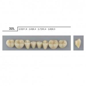 Imagem - DENTE VIPI DENT PLUS POSTERIOR INFERIOR 32L COR 62 - VIPI (C/ 01 PLACA)