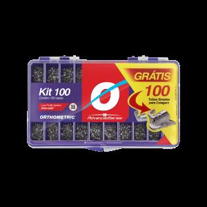 Imagem - KIT DE BRAQUETES ROTH ADVANCED SLOT 0,022 - 100 CASOS GANHE 100 TUBOS COLA - ORTHOMETRIC (C/ 01KIT)