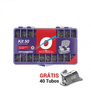 Imagem - KIT DE BRAQUETES ROTH ADVANCED SLOT 0,022 - 50 CASOS GANHE 40 TUBOS COLA- ORTHOMETRIC (C/ 01KIT)