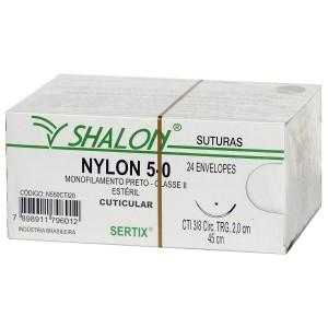 Imagem - FIO SUTURA NYLON 5.0 AGULHA  2.0 -  SHALON ( CX C/24UN)