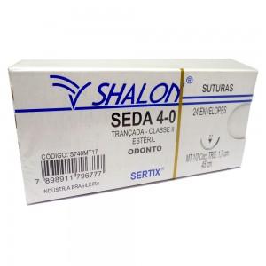 Imagem - FIO SUTURA SEDA 4.0 AGULHA 1.7 - SHALON (CX C/ 24UN)