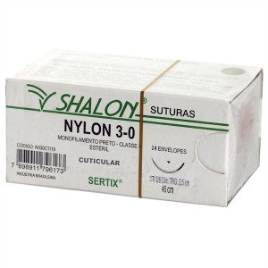 Imagem - FIO SUTURA NYLON 3.0 - SHALON (CX C/ 24UN)