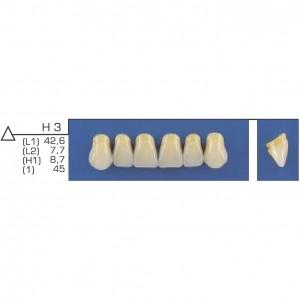Imagem - DENTE TRILUX ANTERIOR SUPERIOR H3 COR 1A - VIPI (C/ 01 PLACA)
