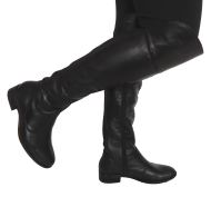 Bota Over Knee Feminina Amyah 854008 Couro