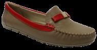 Mocassim Comfortflex 1473403 Castor/Vermelho