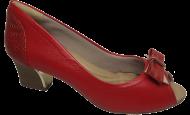 Peep Toe Comfortflex 1592302 Vermelho
