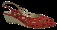 Sandália Miucha 4343 Anabela Vermelha
