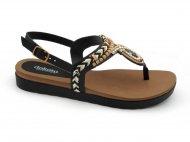 Sandália Dakota Preta de Dedo Z5642