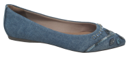 Sapatilha Bico Fino Valentina 375101 Jeans