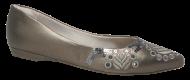 Sapatilha Numeração Especial Anaflex 613262B Prata Velha