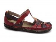 Sapato Feminino Jgean couro AM0222 Vermelho