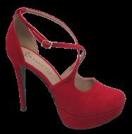 Sapato Meia Pata Numeração Especial Variettá 740349 Vermelho