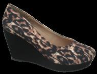 Sapato Anabela Numeração Especial Animal Print Variettá 1230383
