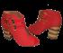 Peep Boot Tanara Vermelha N5581 3