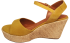Sandália Marlinês 3836 Anabela Cordas Amarelo 2
