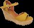 Sandália Marlinês 3836 Anabela Cordas Amarelo
