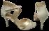 Sandália Social Marlinês 4145 Marfim/Champagnhe Tamanho Especial 4