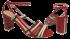 Sandália Salto Bloco Cristófoli 161384 Náutico 4