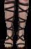 Sandália Tanara N7601 Gladiadora Preta 3