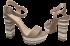 Sandália Plataforma Werner 110056 Listras 4
