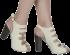 Sandália Meia Pata Tanara N6181 Marfm