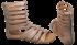 Sandália Dudaiá 17315 Gladiadora Tamanho Grande 4