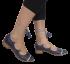 Sapato Gatza 33529 Amarrada na Perna