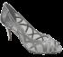 Sapato Peep Toe Werner 804478 Prata