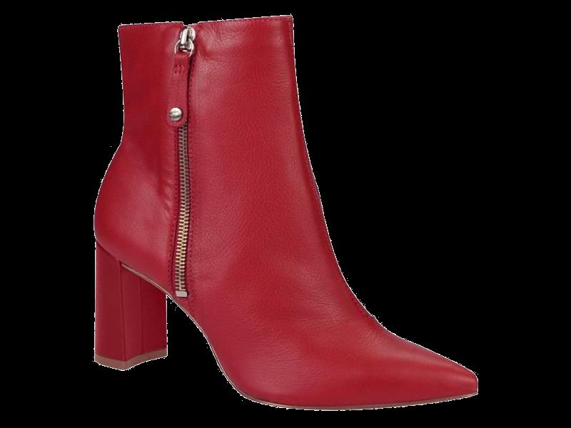 14700b6bbe Bota Feminina Vermelho Cano Curto Tanara T2544