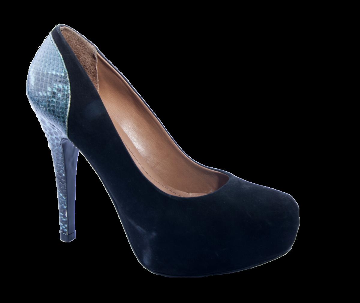 cca2b49d0b Sapato Meia Pata Ferrucci Salto Croco 27952 - Preto - Sapatos ...