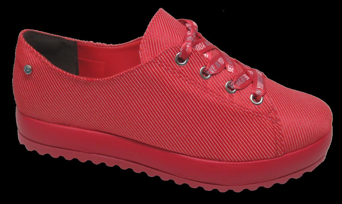 80dc4232d9d Sapatênis Feminino Flatform Tanara T2682 Vermelho