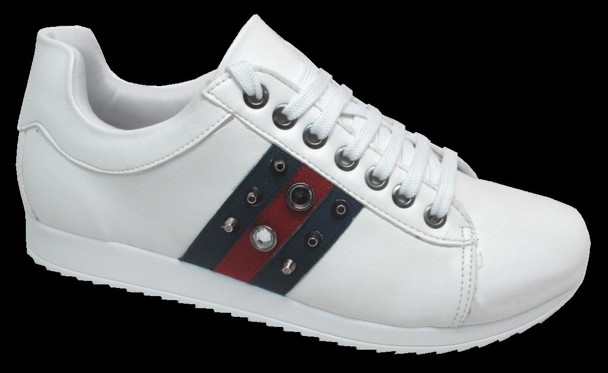 dceed7cb678 Sapatênis Numeração Especial Branco Anaflex 123722B