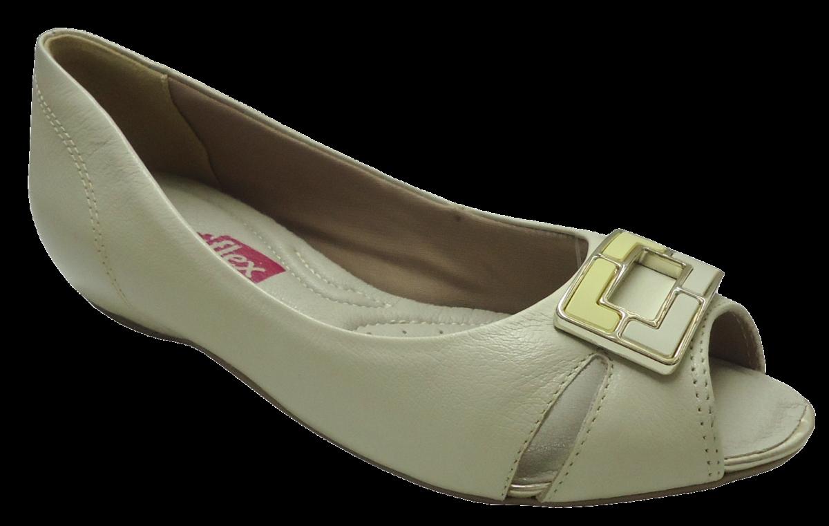 9dfb7a00d Sapatilha Peep Toe Comfortflex 1476402 | Dtalhe Calçados