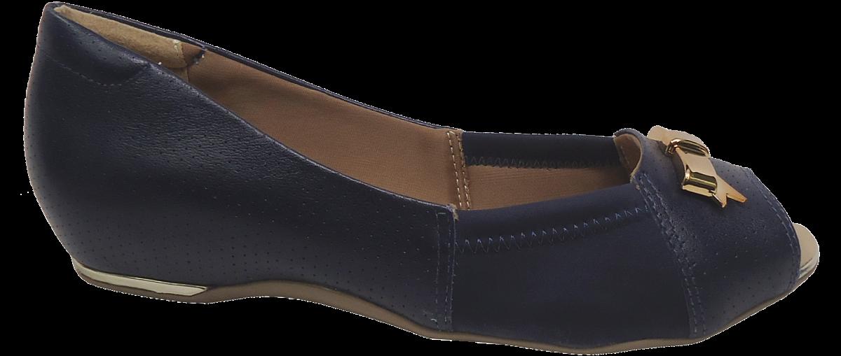 6d1ab4d82 Peep Toe Tamanho Grande Comfortflex 1576405 Marinho | Dtalhe Calçados