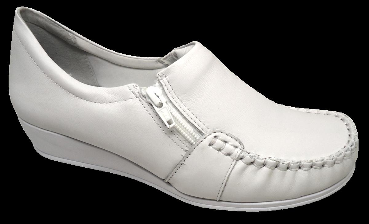 e7f147cfc Sapato Feminino Branco Comfortflex 1793403 - Linha Hospitalar. Seja o  primeiro a avaliar! 0 0. Passe ...