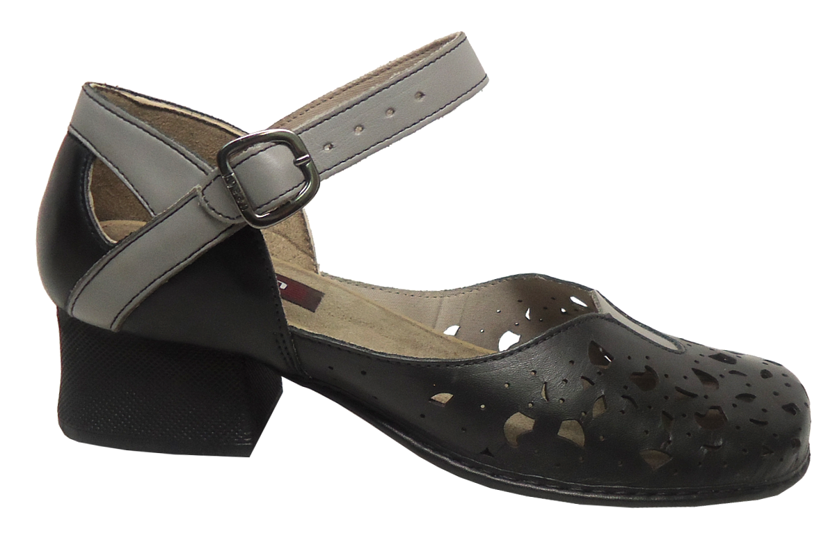 7ef4ea6ad5 Sapato Feminino Confortável JGean CK0025 Couro. Leia a avaliação Faça uma  avaliação 5 1. Passe ...
